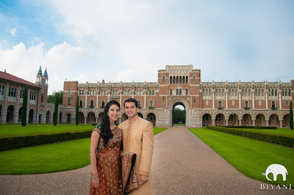 Indian Engagement Photo Shoot - Rice University, Houston, TX