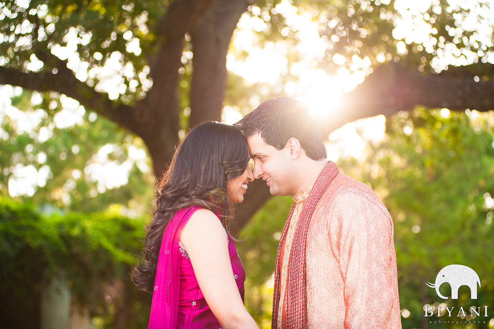 Indian Engagement Photography, Hermann Park, Houston, TX