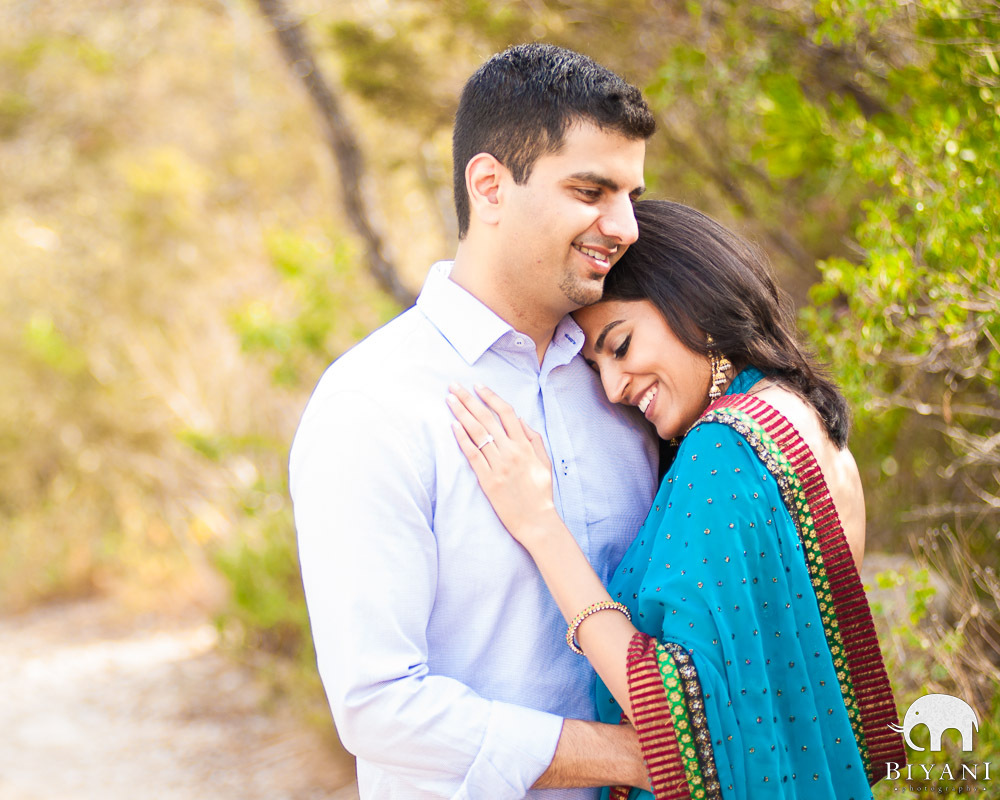 Creative Posed Indian Engagement Photography
