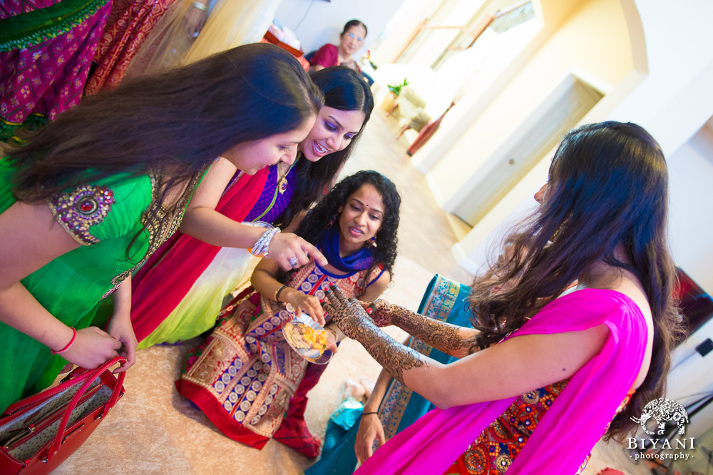 Bride and Bridemaids Mehndi