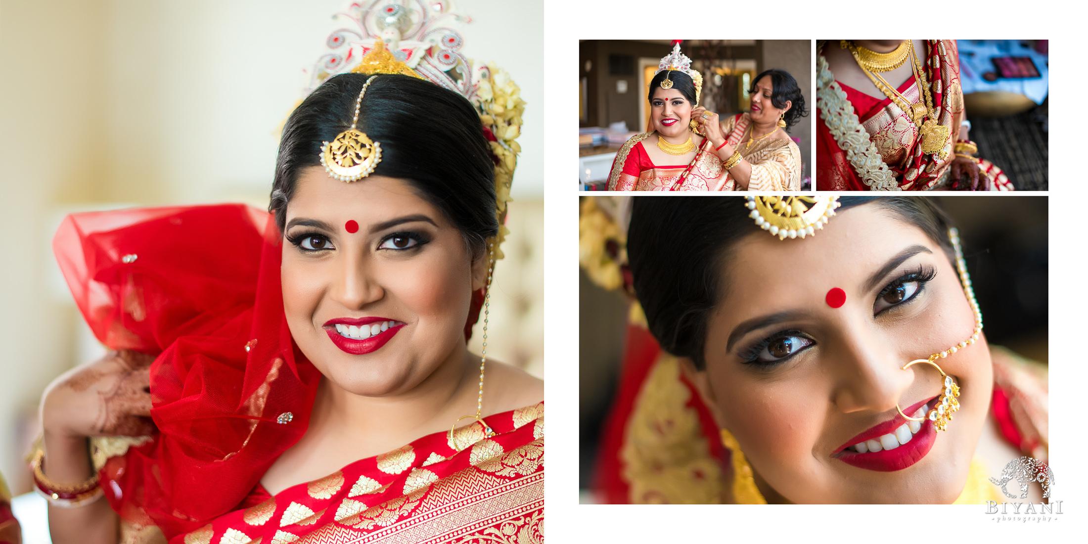 Bengali Bride Getting Ready