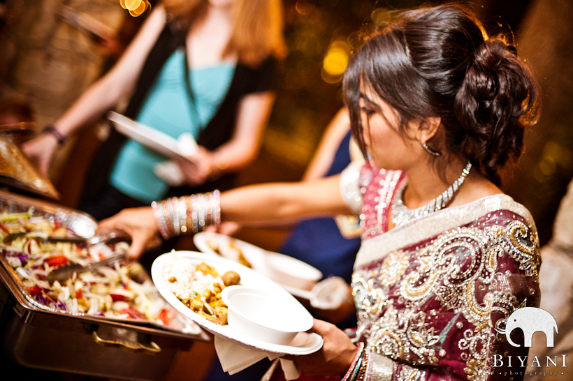 indian wedding food catering photo