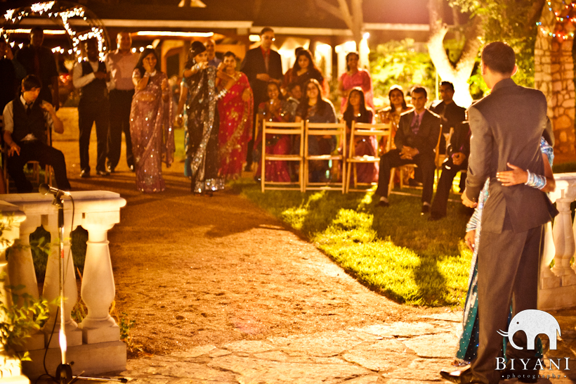 Indian Bride and Groom First Dance Photo