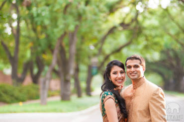 Indian Engagement Photo Shoot – Rice University, Houston, TX