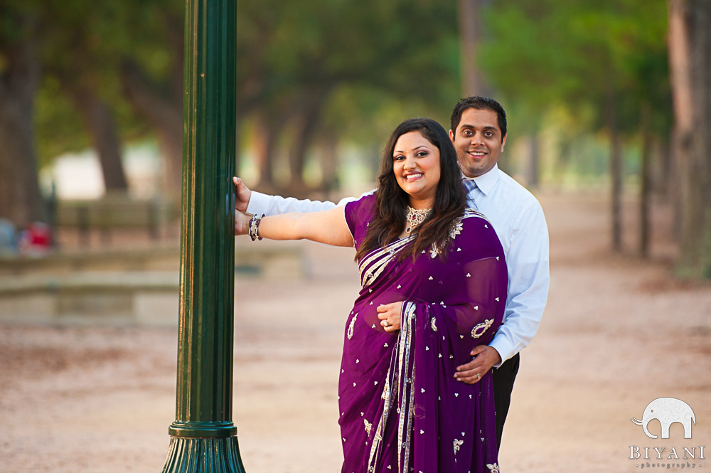 Indian Couple by lamp post - bollywood style