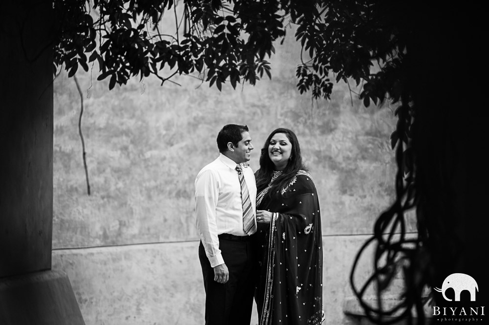 Black and White photo of Indian couple