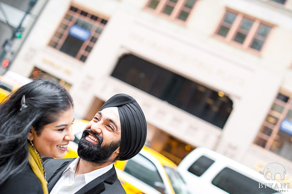 Punjabi Fiance Simling at Grand Central, New York