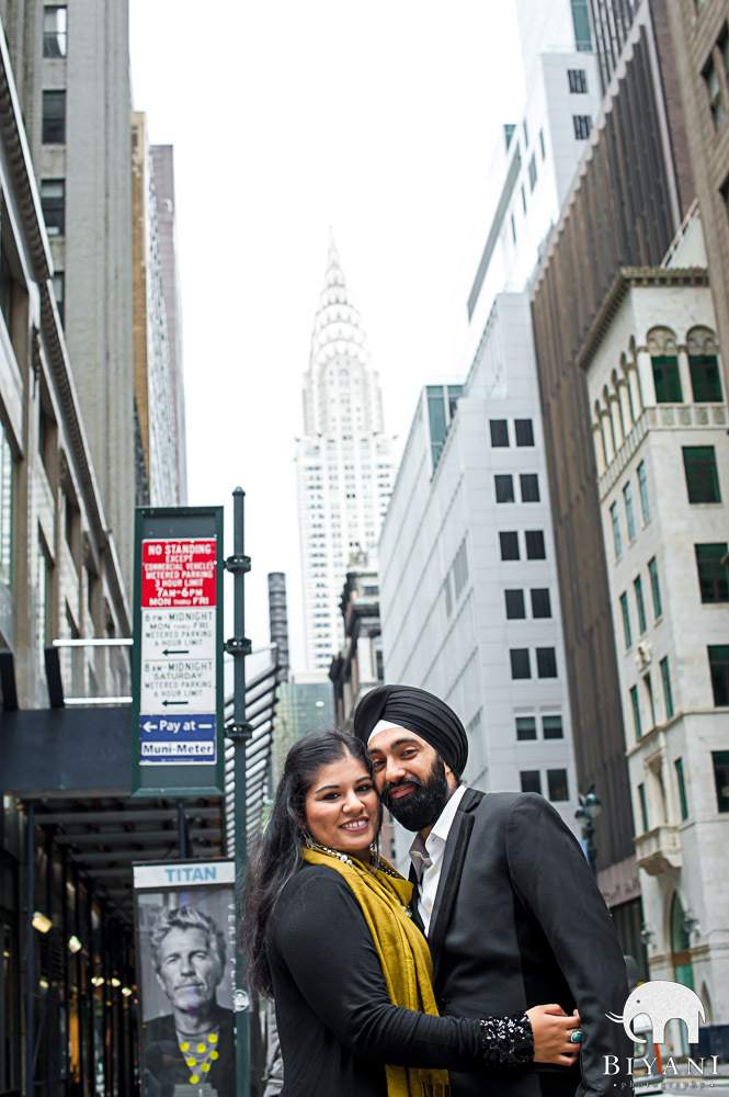 Urban Indian Engagement by Chrysler Building, New York