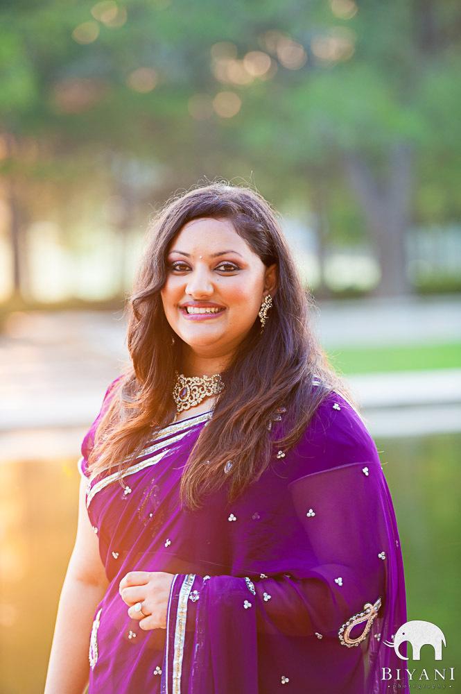 Engagement Portrait of Indian Bride