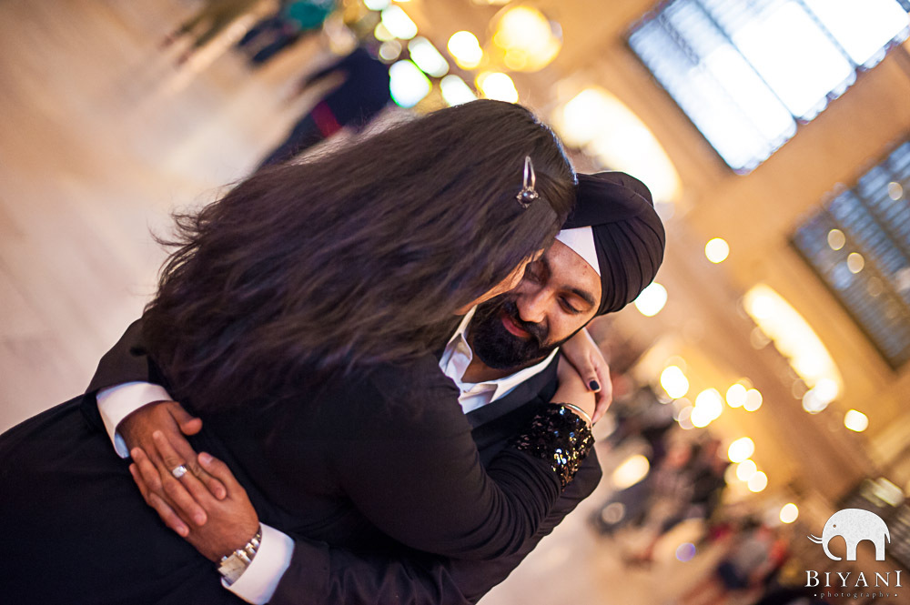 Jhappi - New York Indian Engagement hug!