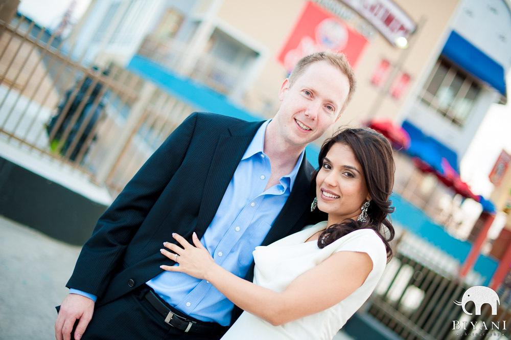 Indian Engagement Photography - Galveston, Texas