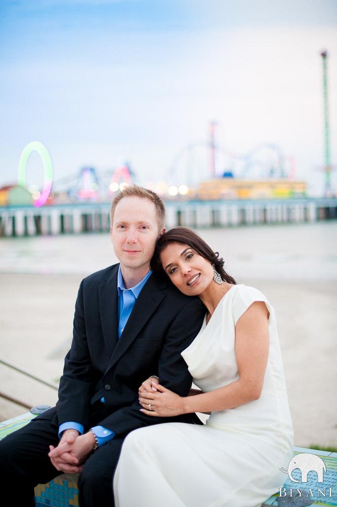 Indian Engagement Photography – Galveston, Texas