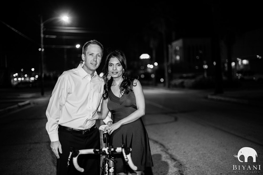 Indian Engagement Photography with Bike - Galveston, Texas