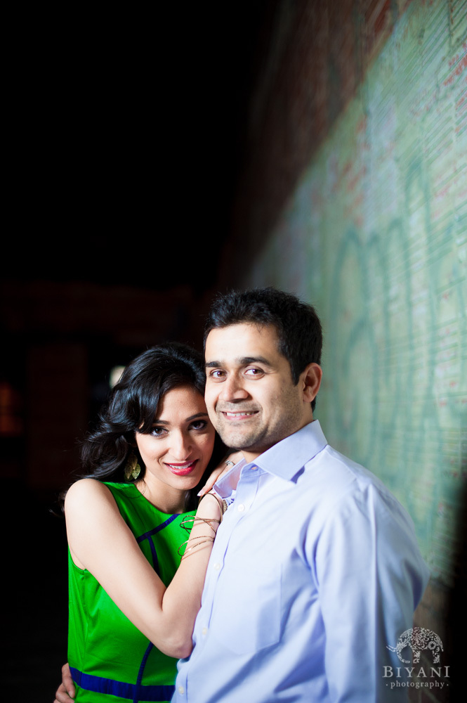 Downtown Houston Indian Engagement Photography