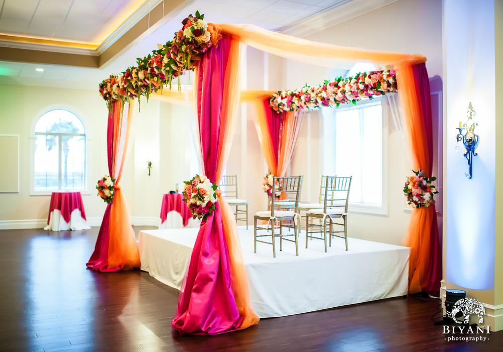 Cuero Wedding Stage Mandap