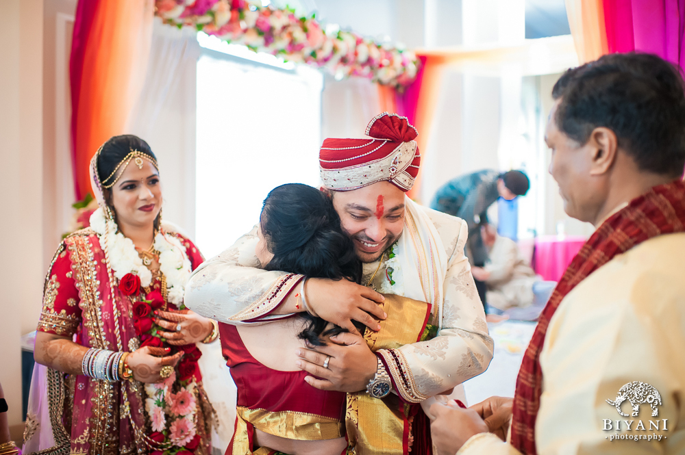 Cuero Wedding Couple hugging Parents