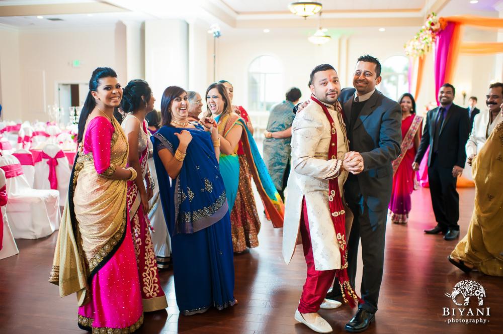 Cuero Wedding Groom Dancing with Best Man