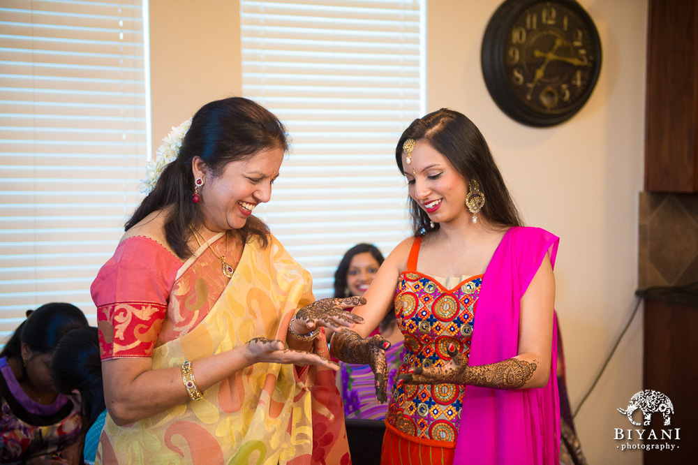 Indian Bride and Mom mehndi