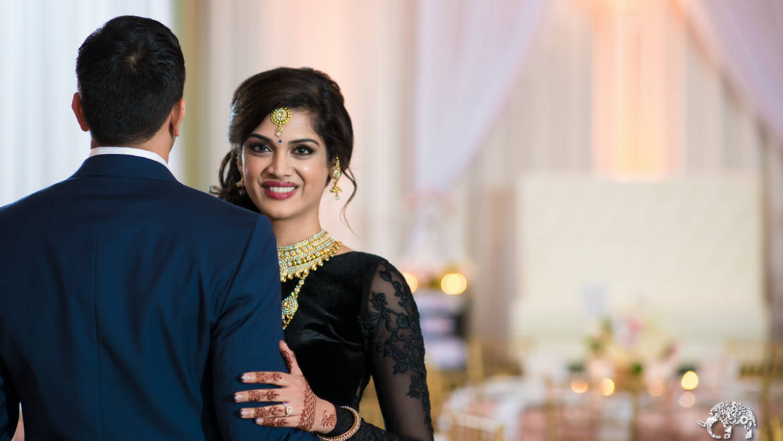 Blush & Gold Romantic Indian Wedding Reception – Oaks Events Center, Austin, TX