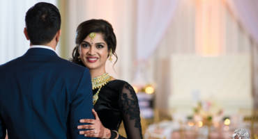Blush & Gold Romantic Indian Wedding Reception – Oaks Events Center, Austin, TX