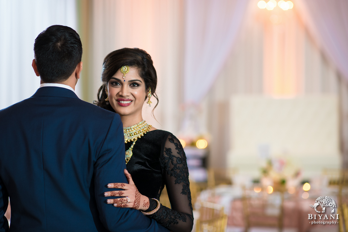 9f0bc495a4 Blush & Gold Romantic Indian Wedding Reception – Oaks Events Center,  Austin, TX