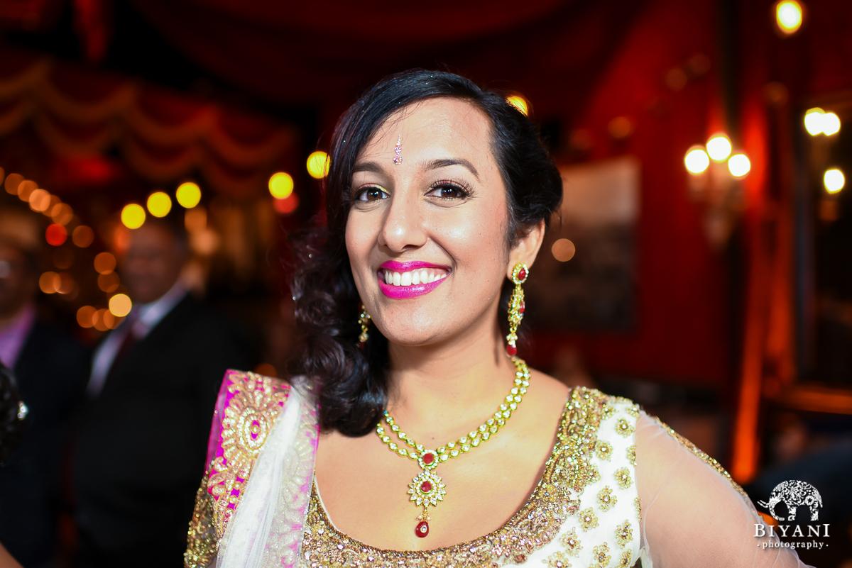 Smiling Indian Bride photo at Sangeet