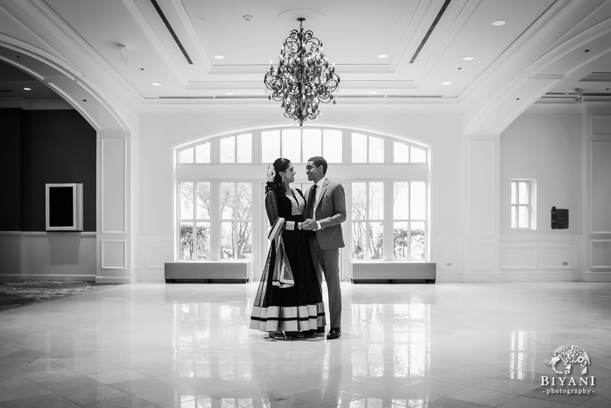 Black and White Couple Photo Sugarland Marriott