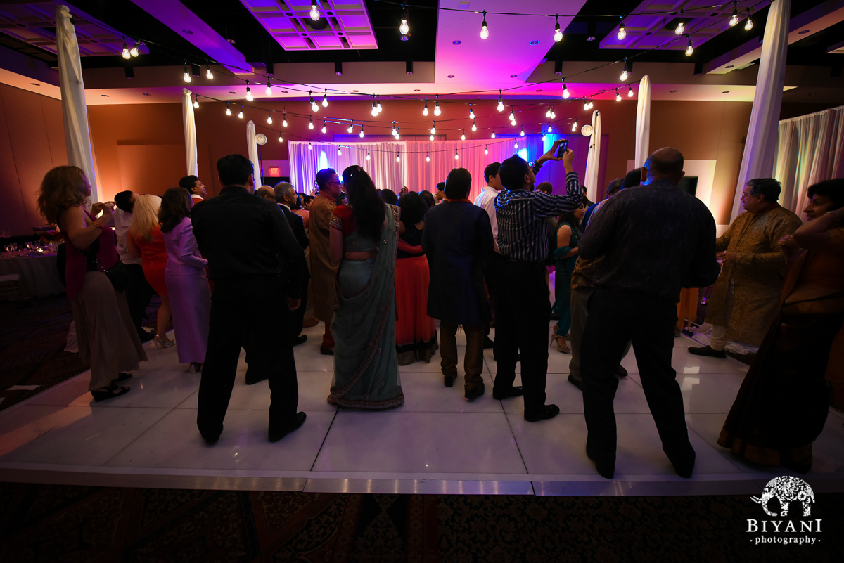 Stafford Center reception dance floor photo