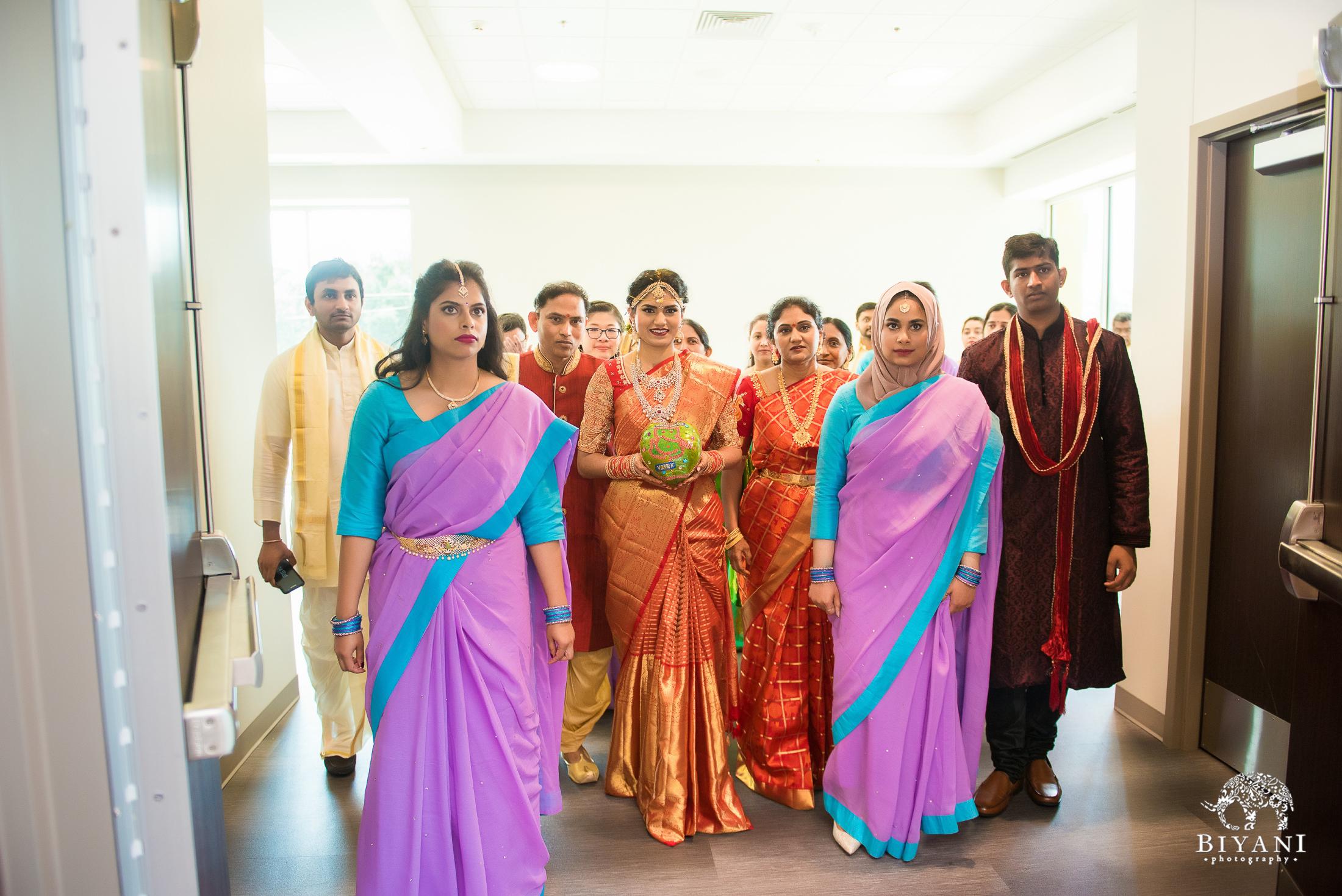 Telugu Wedding ceremony bride entering