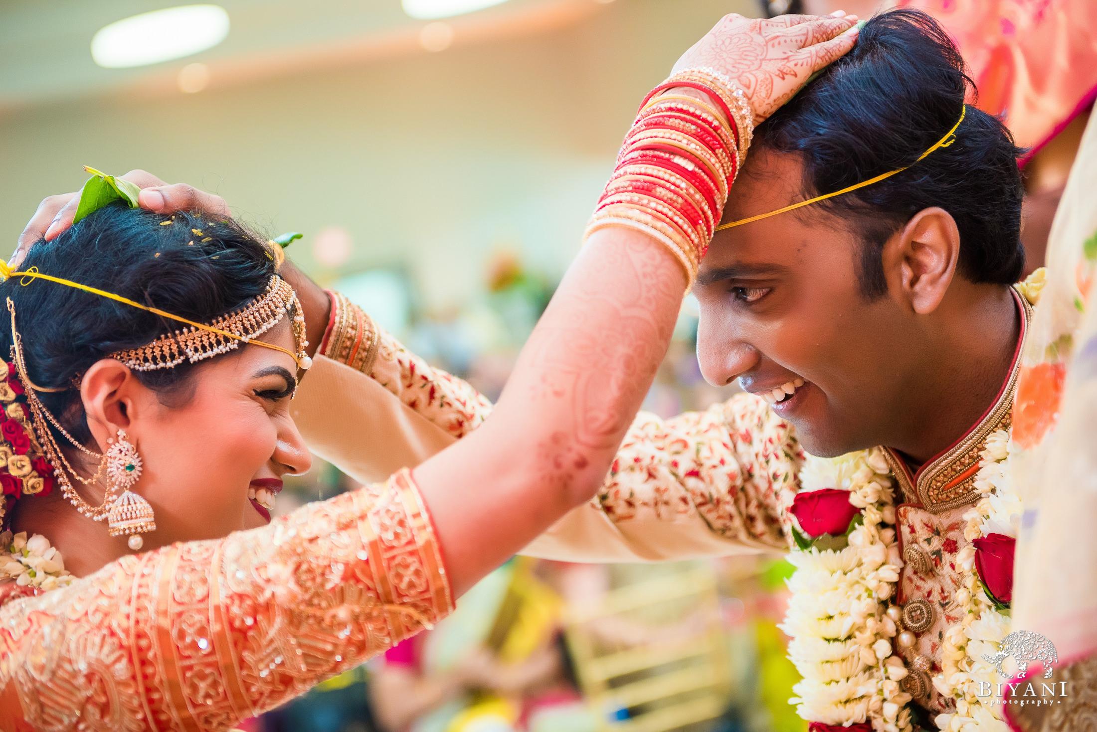 Telugu Wedding ceremony bride and groom