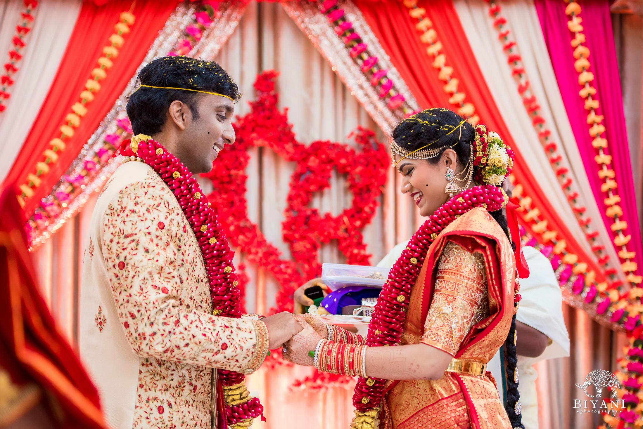 Telugu Wedding ceremony ring exchange