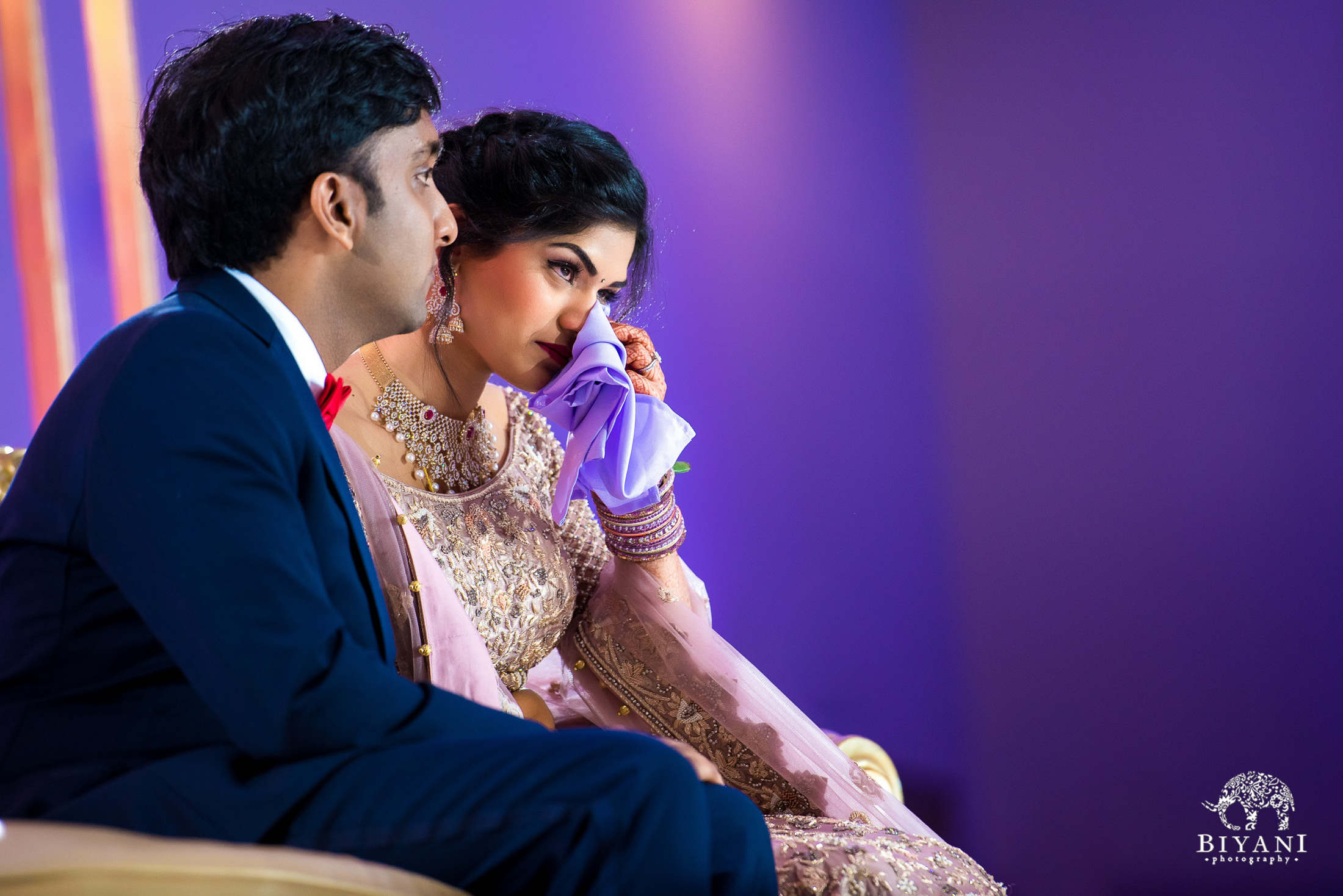 Bride and Groom during Reception Speeches