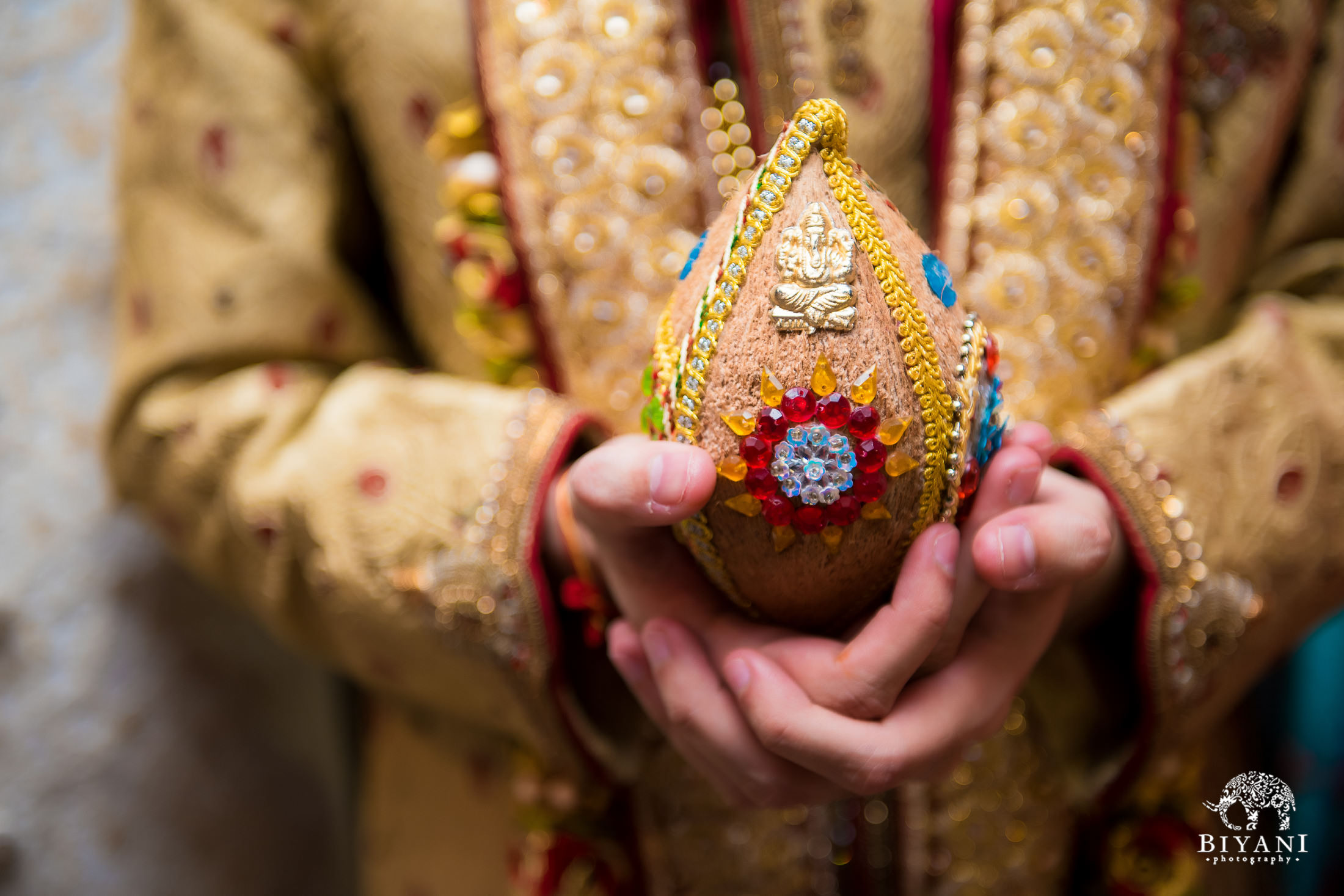 Traditional coconut used during wedding ceremony
