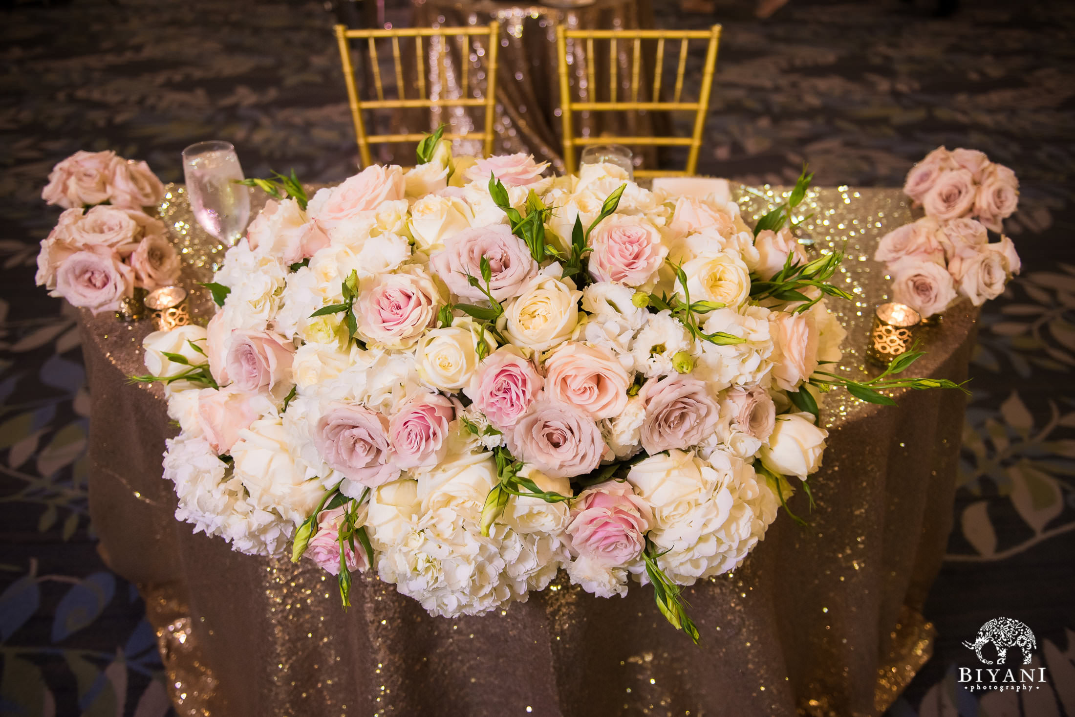 Floral designs at the reception