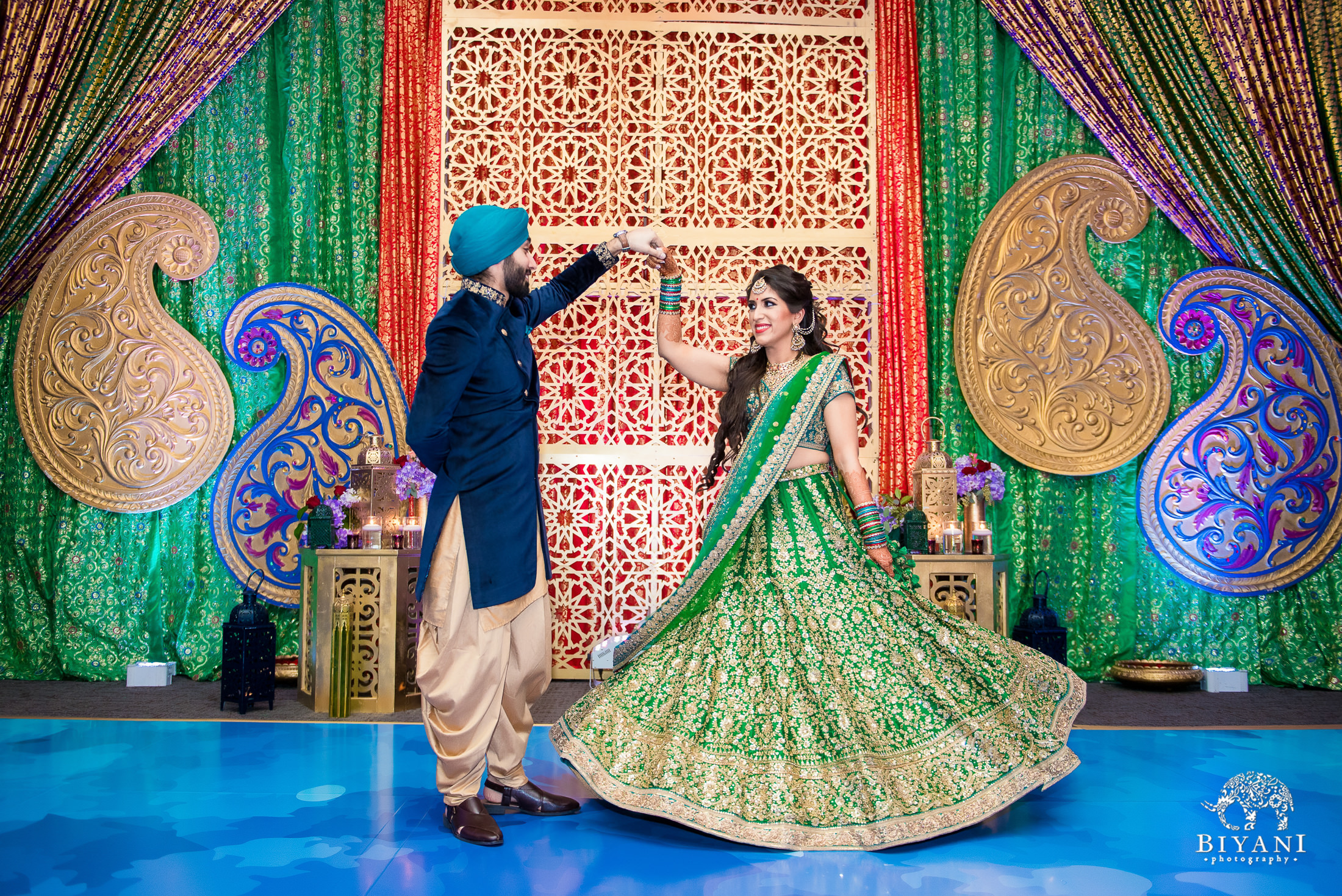 Punjabi bride and groom