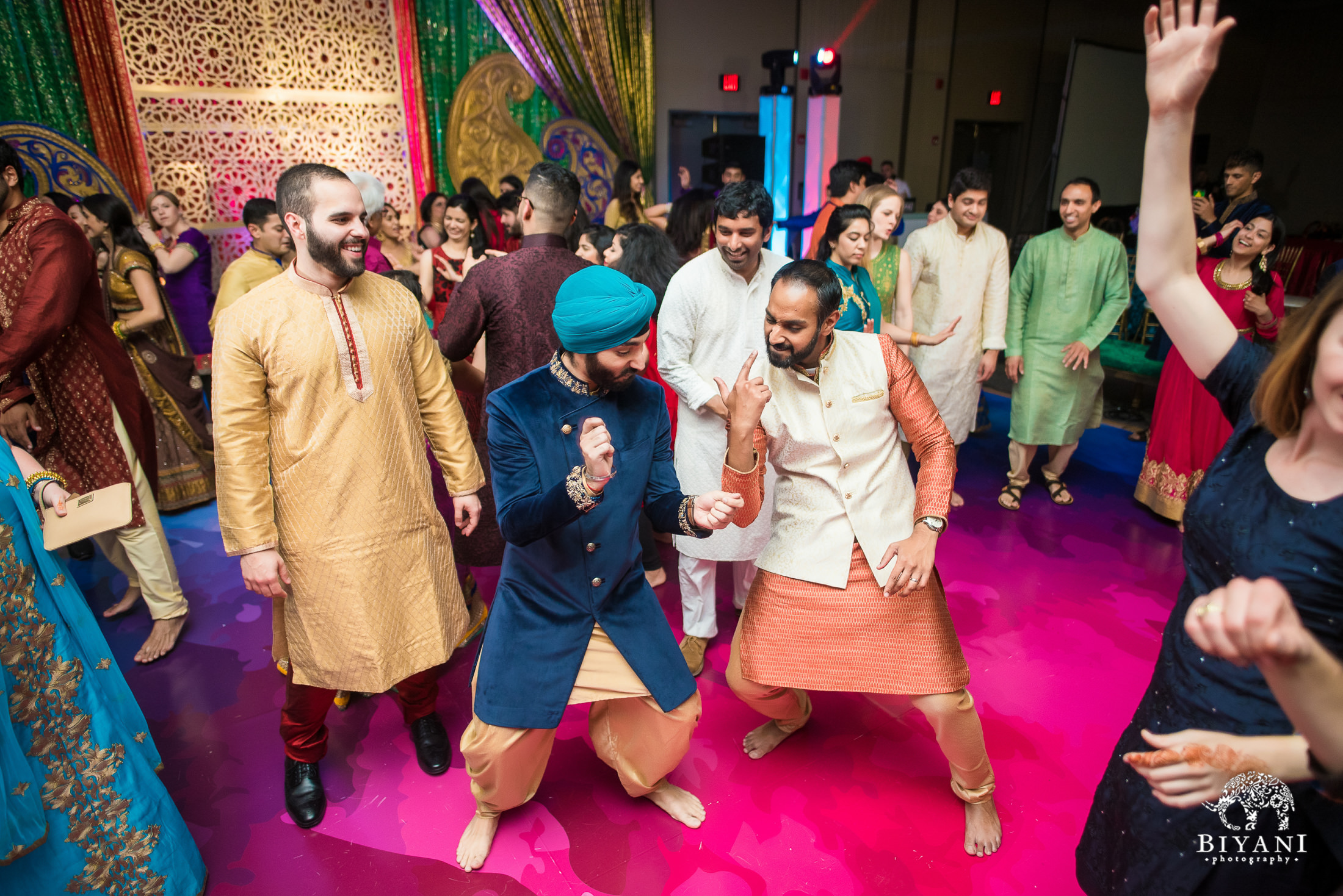 Punjabi groom on the dance floor