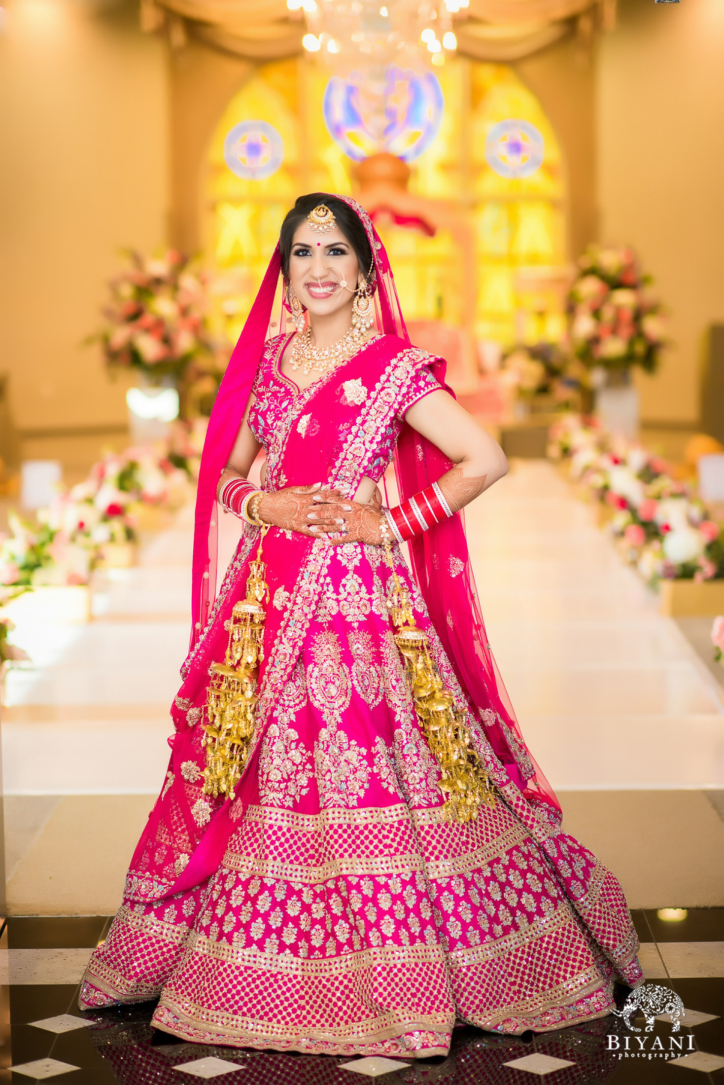 Punjabi Wedding Ceremony Bride