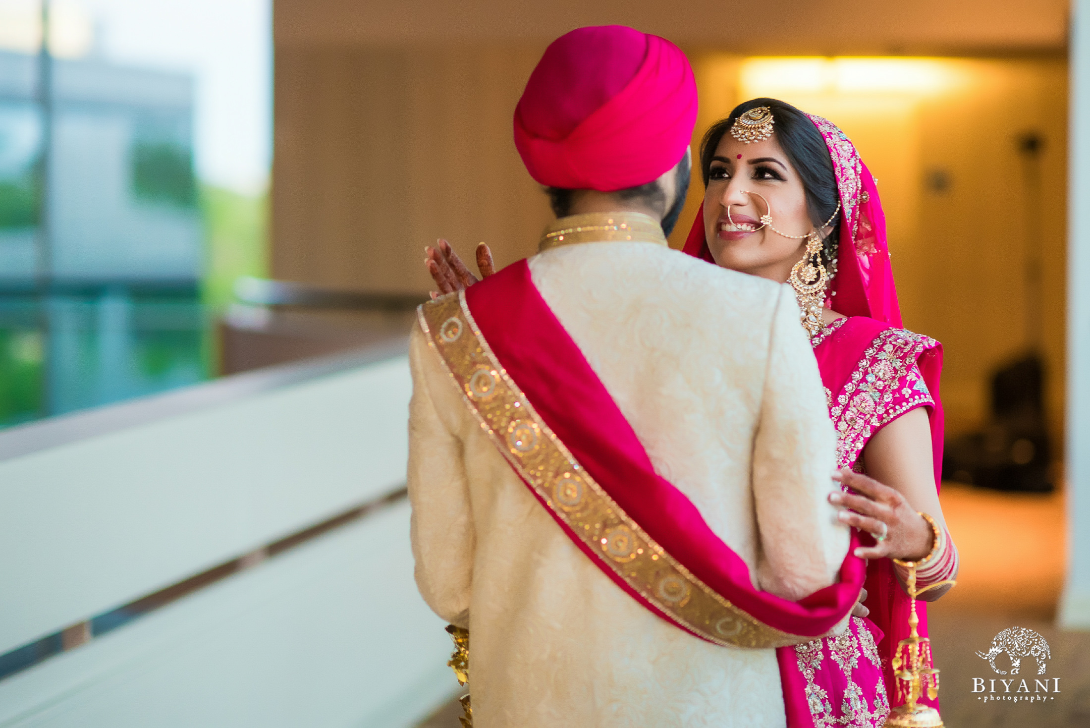 Punjabi Wedding Ceremony bride and groom