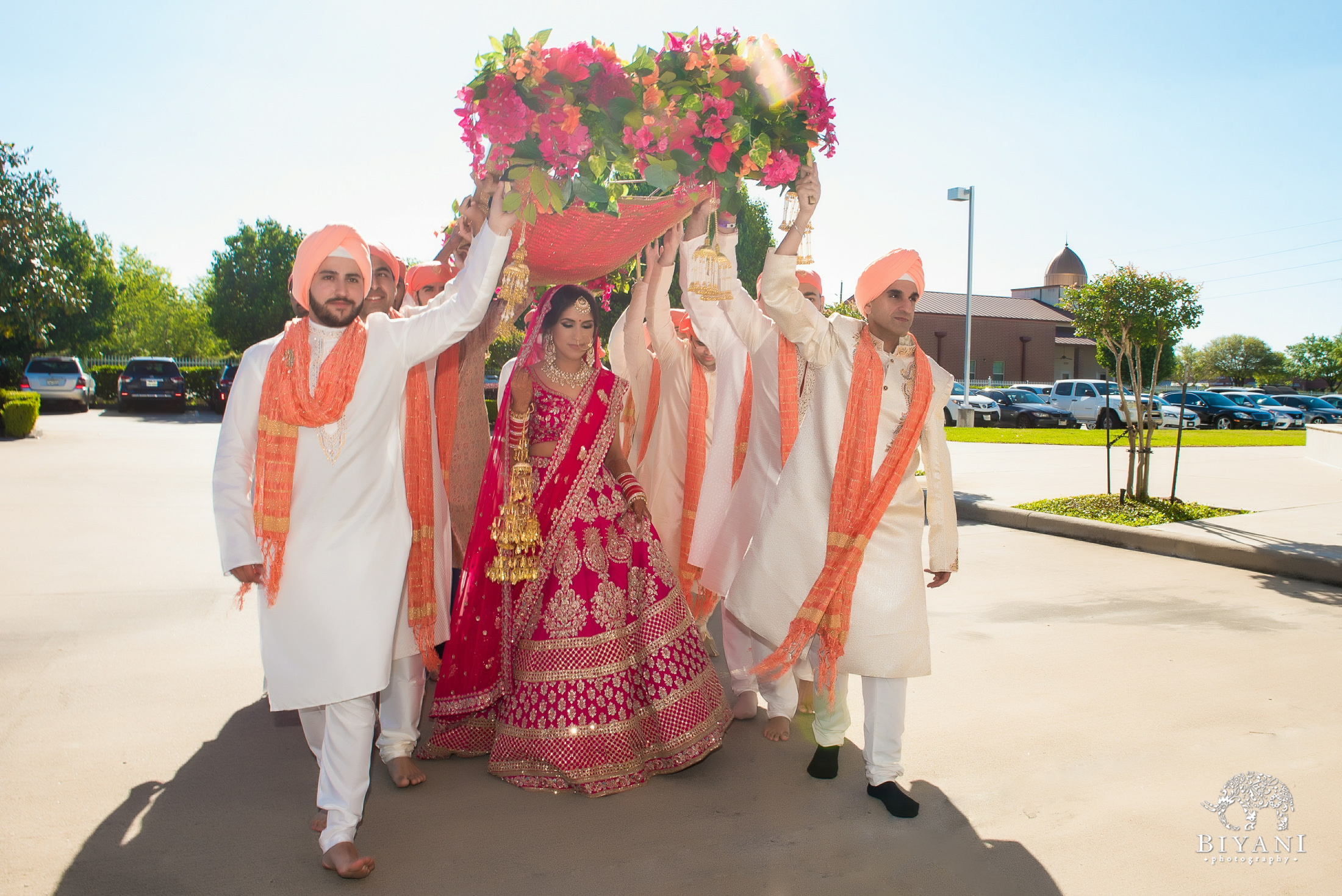 Punjabi Wedding Ceremony Bride entrance