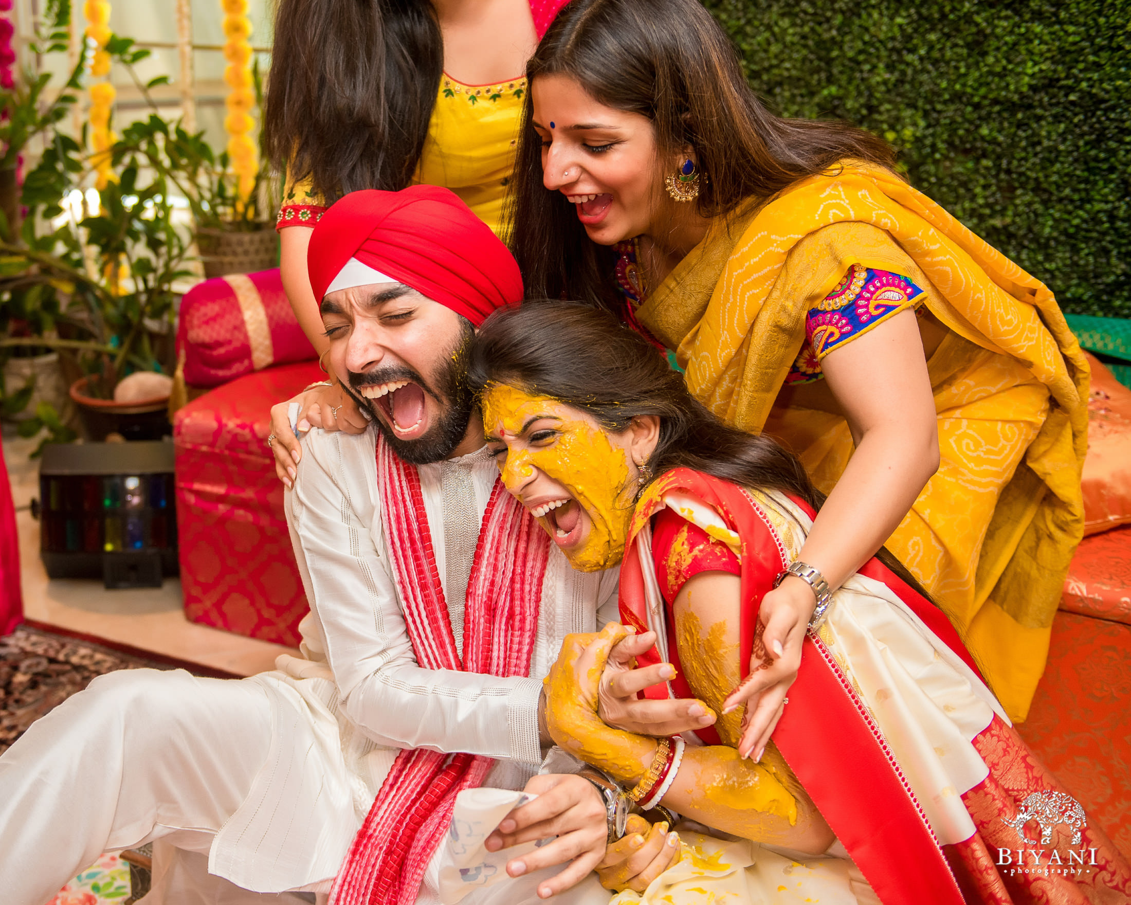 Sikh Wedding haldi ceremony