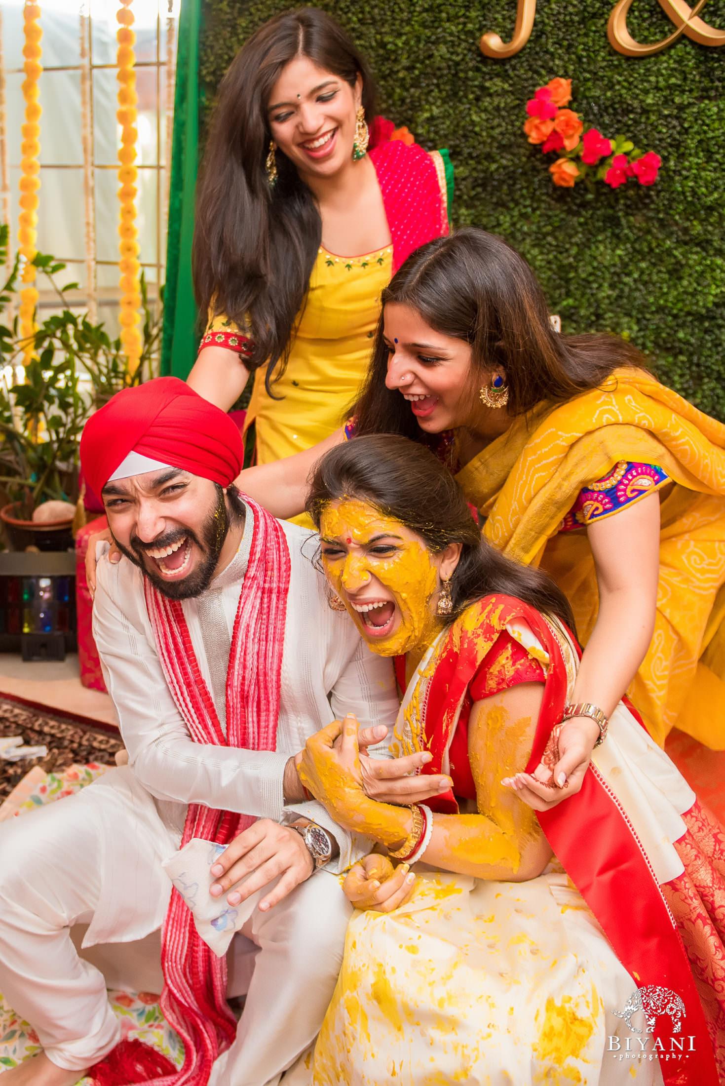 Sikh Wedding Haldi ceremony
