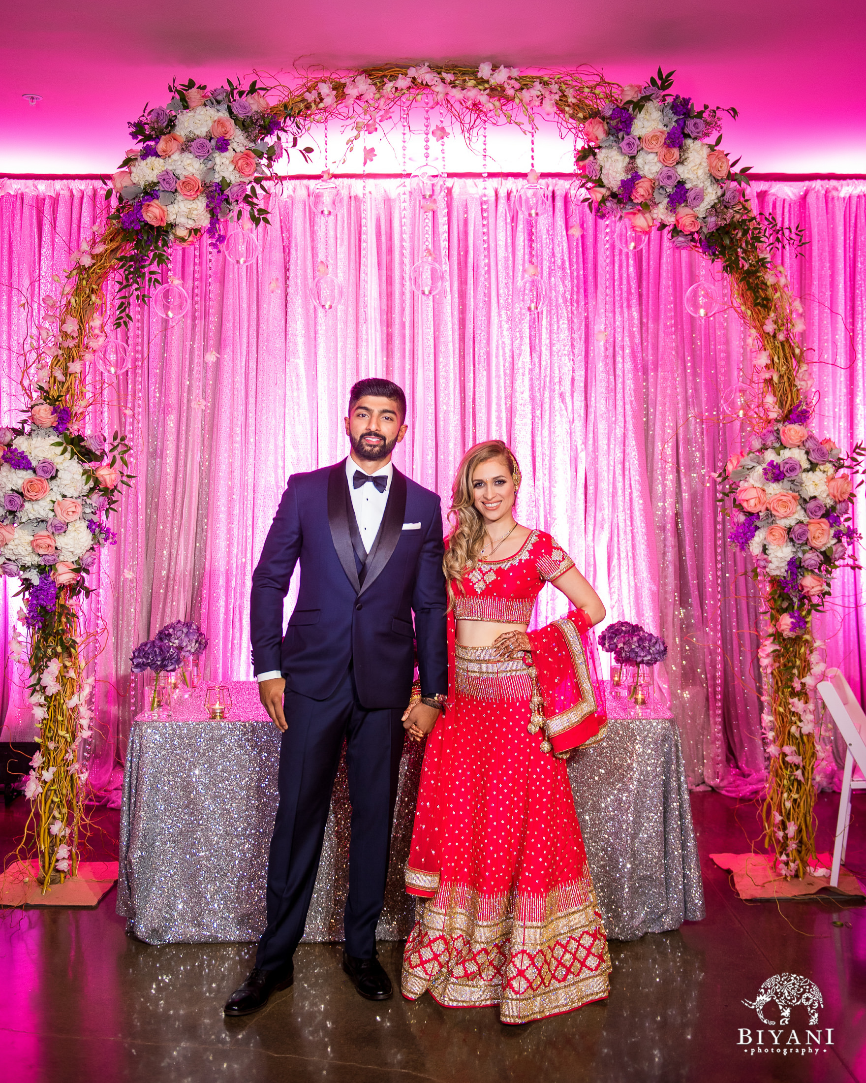 Indian Fusion Telugu Wedding Reception