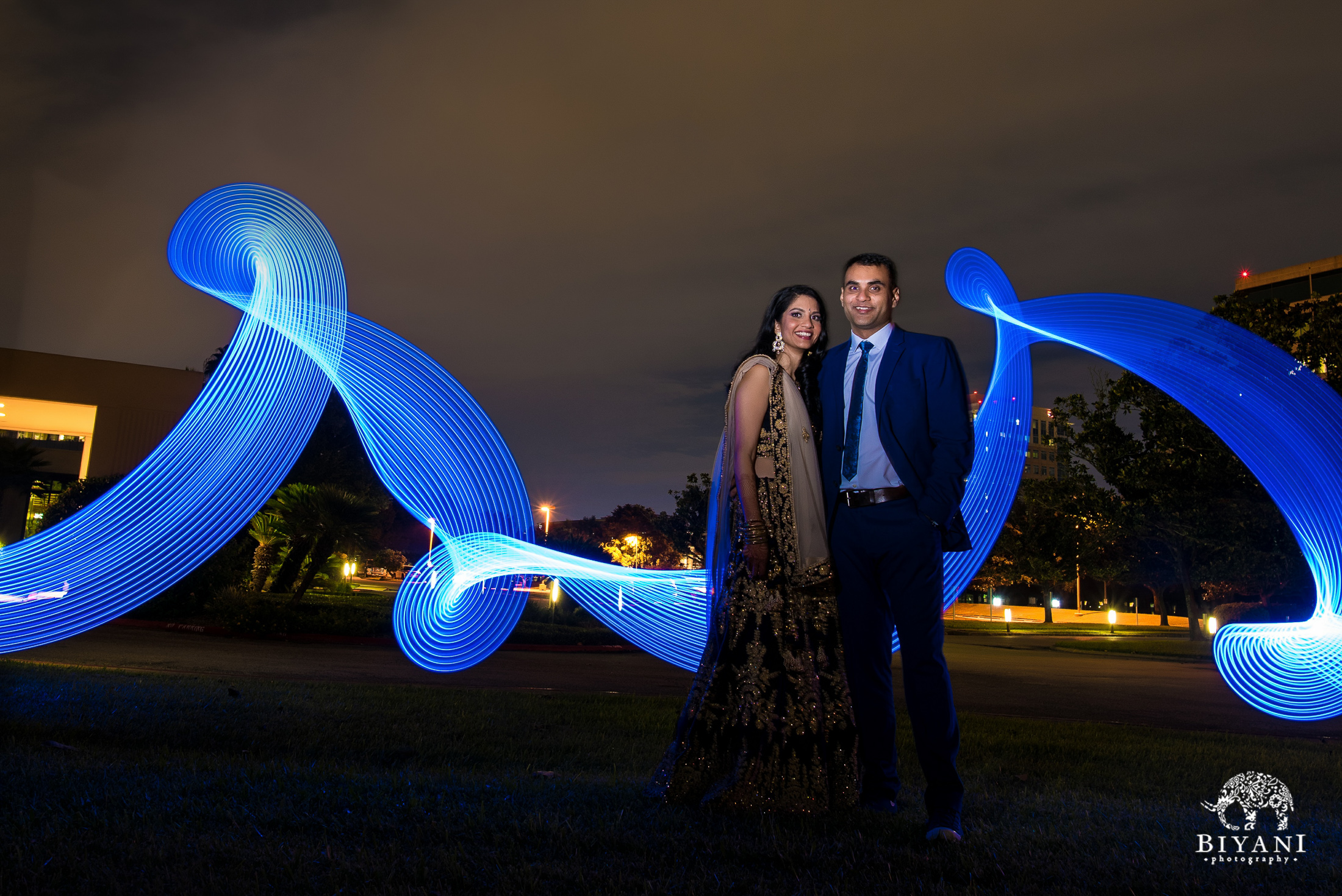 Gujarati Wedding Reception Couple Portraits