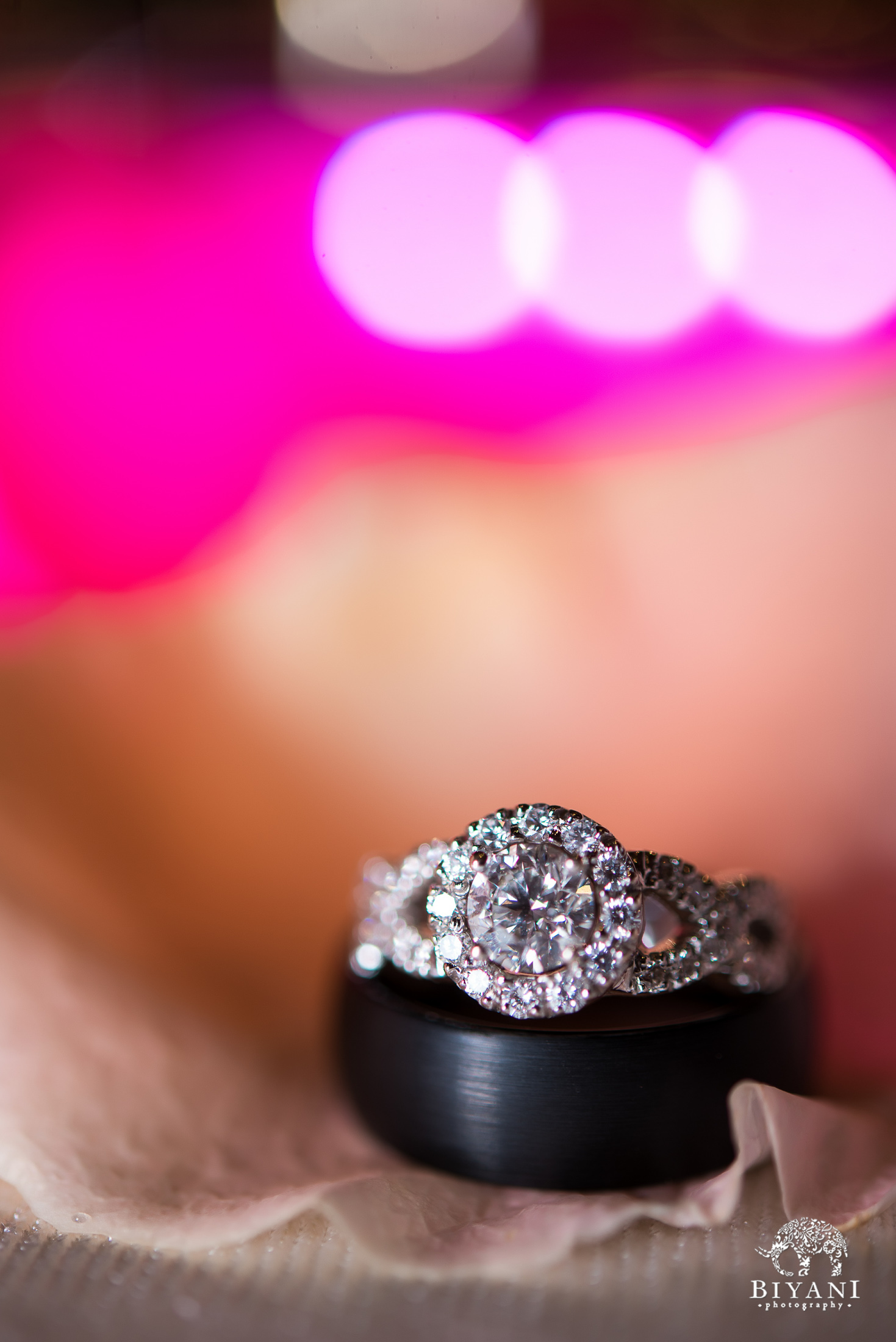 Gujarati Wedding Reception Ring Photography