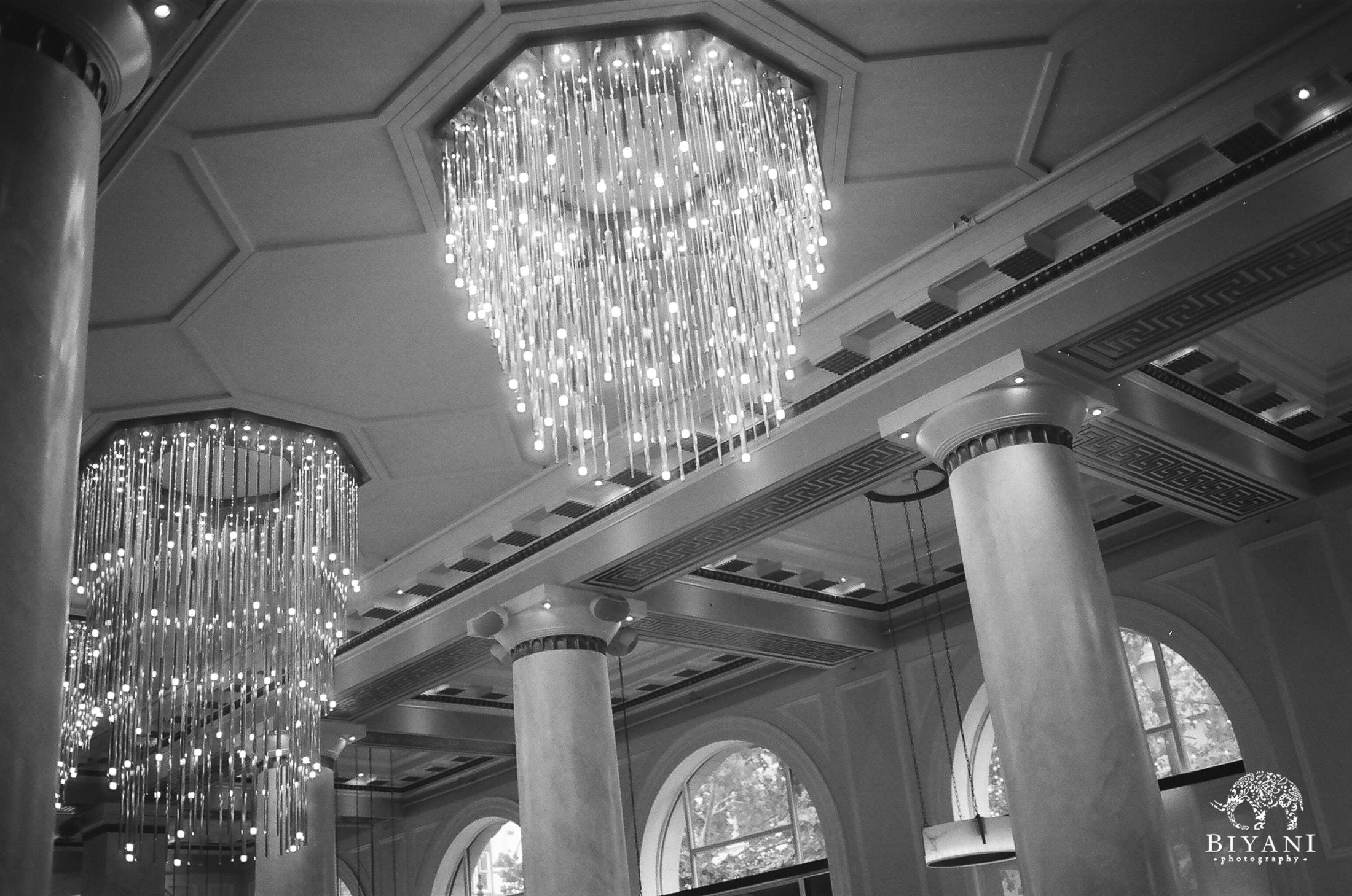 gorgeous chandelier at the wedding venue