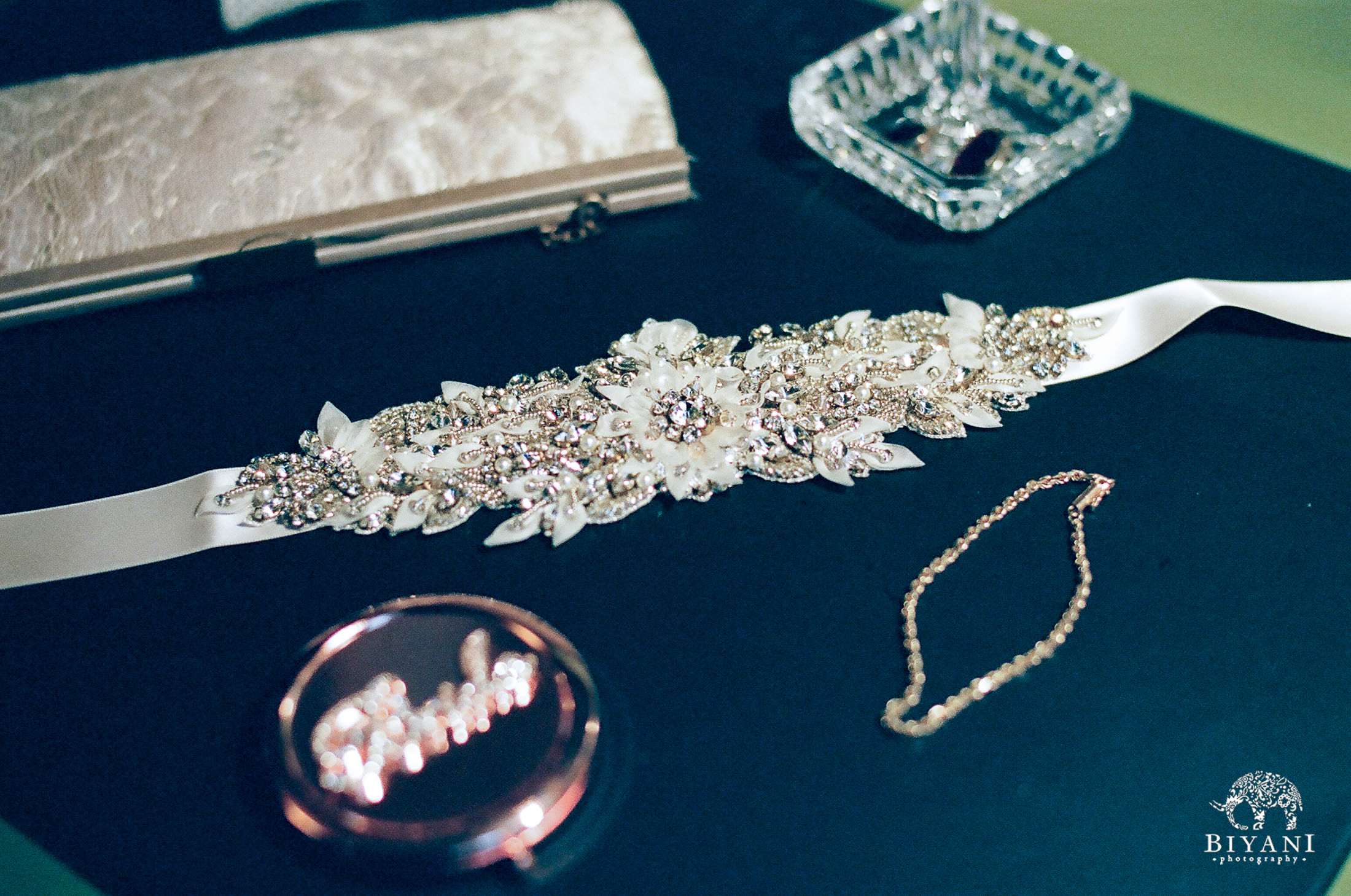 Bride's accessories and details for her wedding outfit