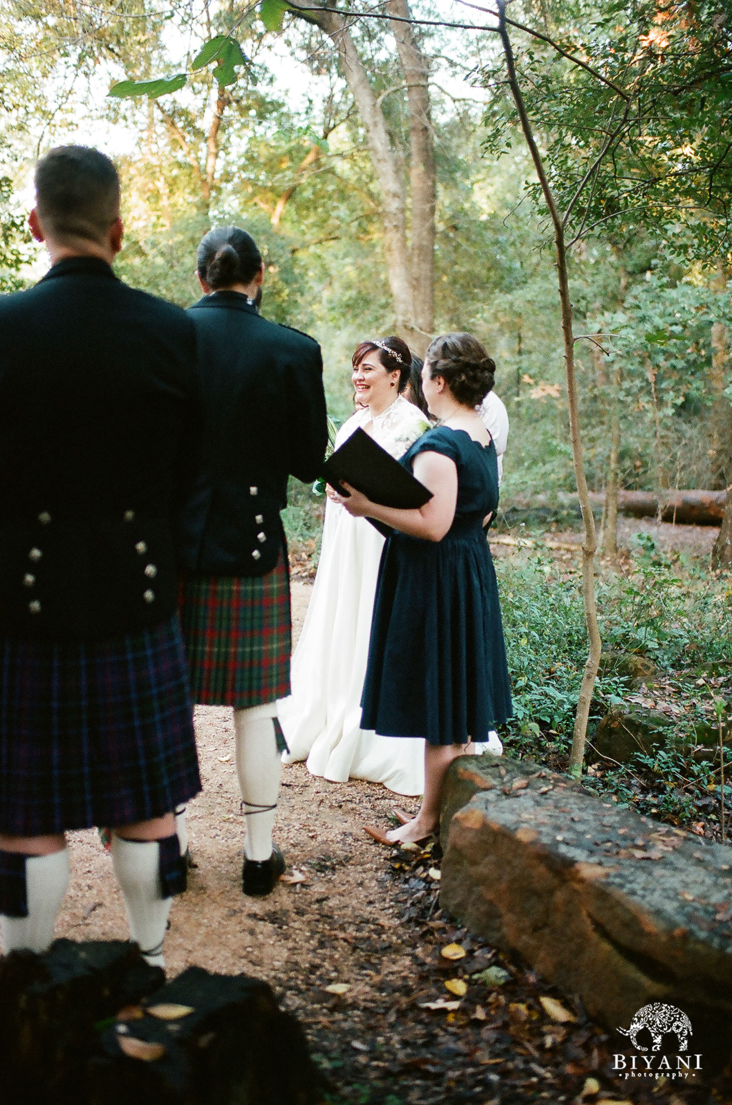 Houston Arboretum Forest Wedding Ceremony