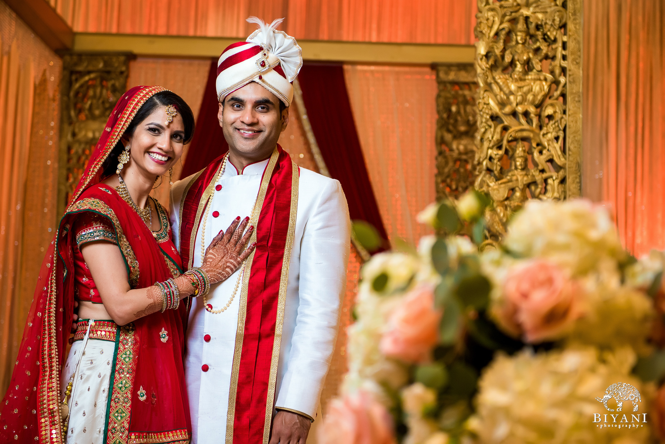 Gujarati Wedding Ceremony Bride and Groom