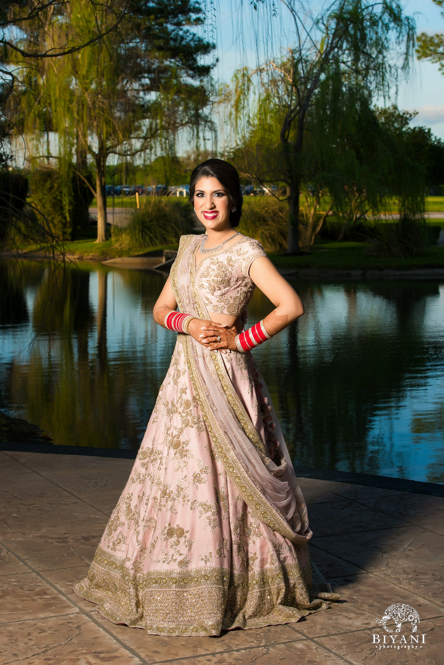 Houston Punjabi Wedding Reception Bride