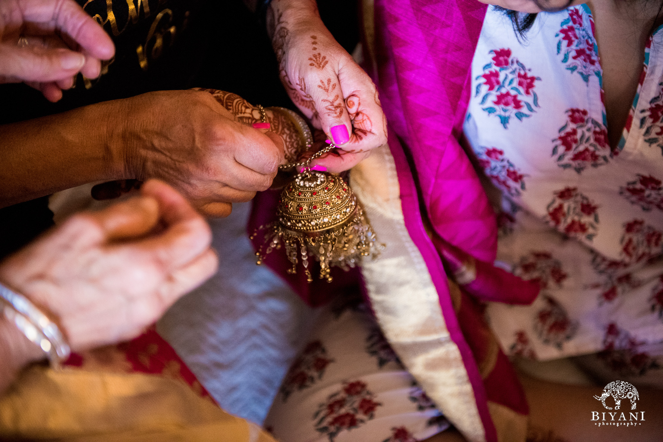 Jewelry for the Indian bride during her Indian Fusion wedding in San Antonio, Tx.